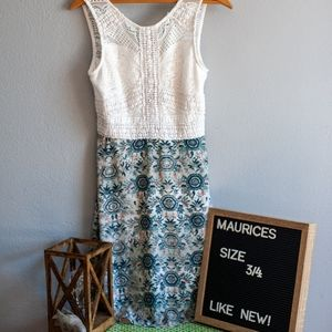Maurices Lace Top Spring Dress